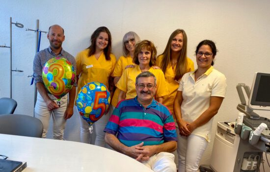 Praxis Dr. Lomiento feierte 35-jähriges Jubiläum am 01.07.2020.